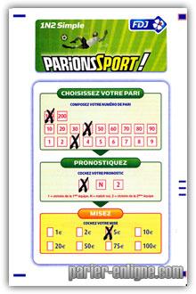 Parions sport parionssport pr sentation et explications - Grille parions sport pronostics ...